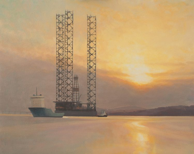 Oil painting commission - Oil Rig Gorilla 7 at Dundee