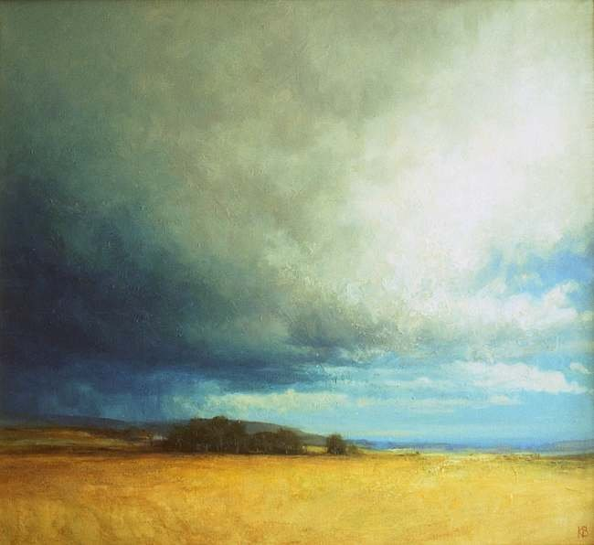 Outdoor oil Painting of Angus Landscape and Sky near Coupar Angus, Angus, Scotland