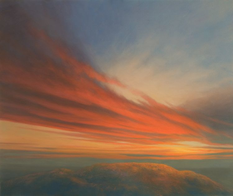 Oil Painting of Sunset - Barry Hill
