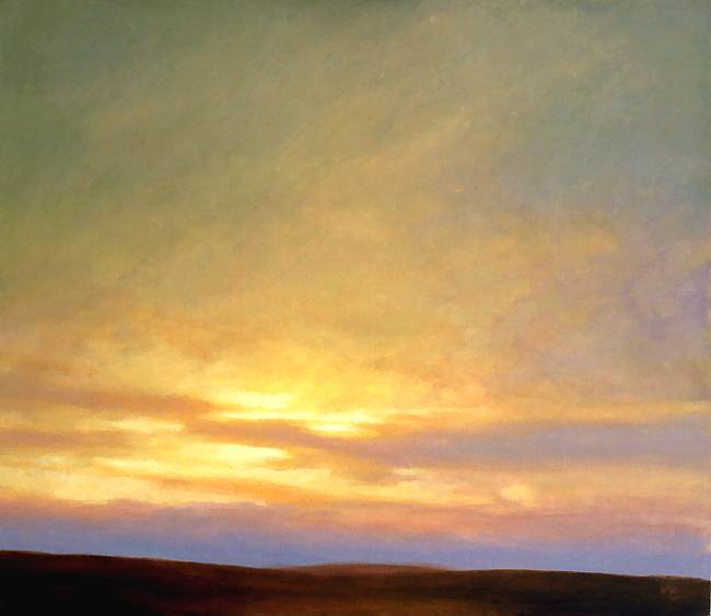 Modern art landscapes - sky painting - On the Moor