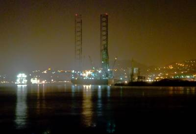 Oil rig at Night Dundee