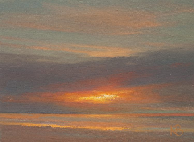 Painting of Sky at Sunrise - Dawn Study 6