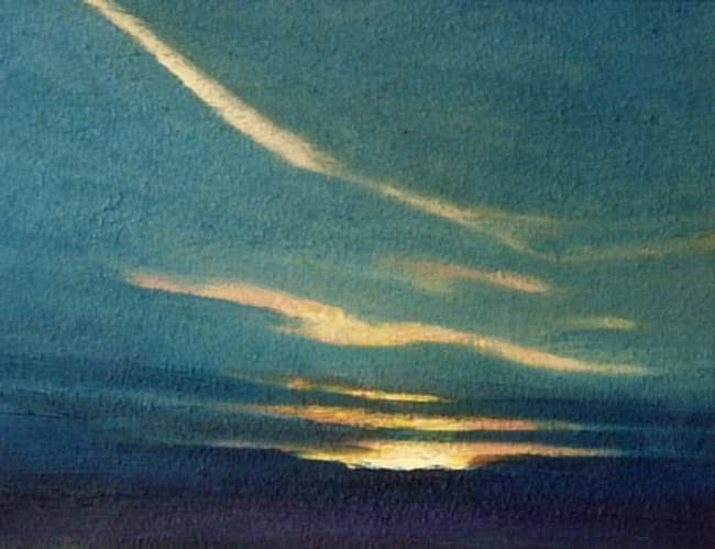 """Dusk"", Oil Painting, Landscape."