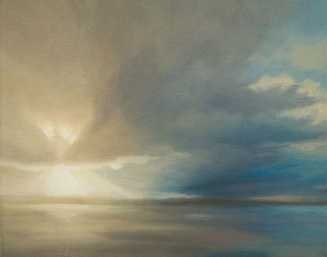 Sky Painting - First Call,  backlit sky and cloud