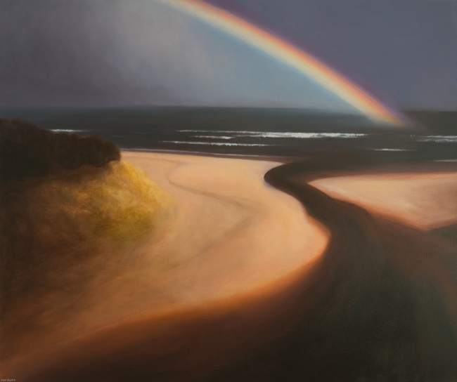 Painting of rainbow at Red Castle