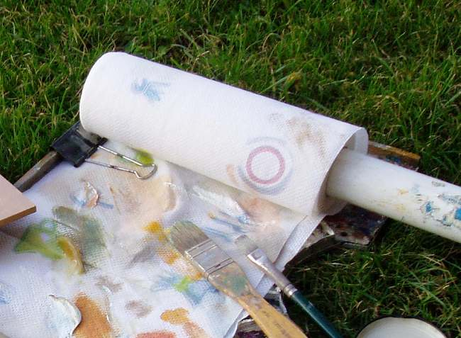 Outdoor painting - Palette and Kitchen Roll