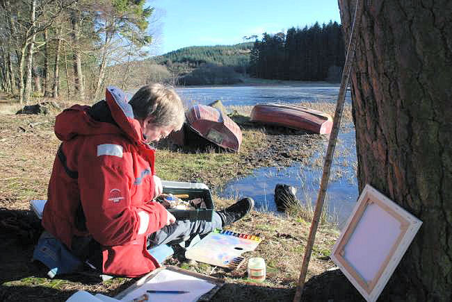 Painting at Laird's Loch