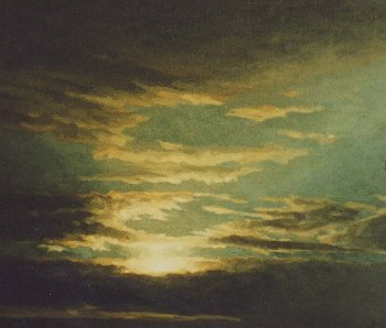 Oil Sketch By Moonlight, Sky Study,