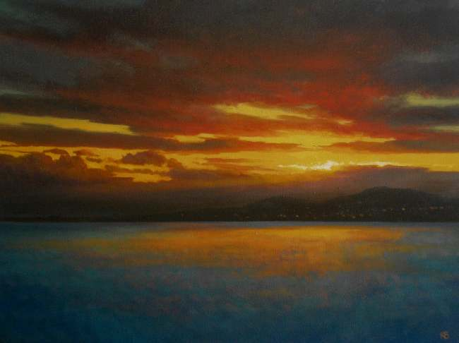 Nocturne oil painting - Nocturne from Broughty Ferry