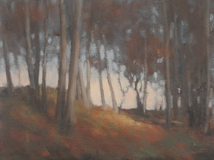 Oil Sketch, small oil painting of trees - Den of Aylth 1