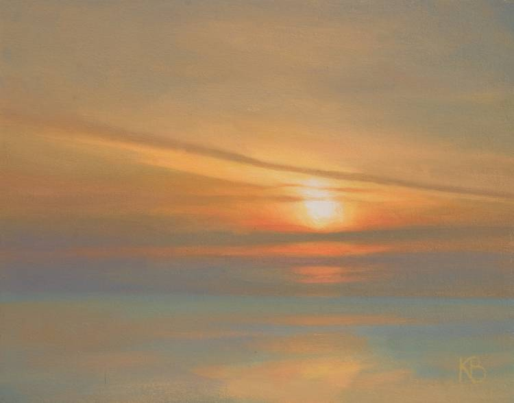 Oil Sketch of dawn on the 11th September 2009