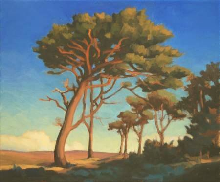 Caledonian Forest - Pines trees - Oil on canvas painting