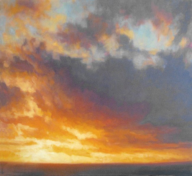 Modern art landscape sky painting sunset