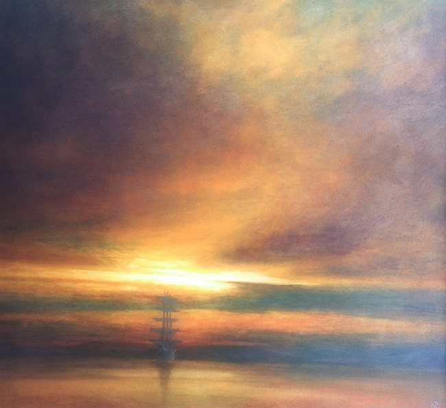 Tall Ship leaving Dundee, Scottish Seascape Art