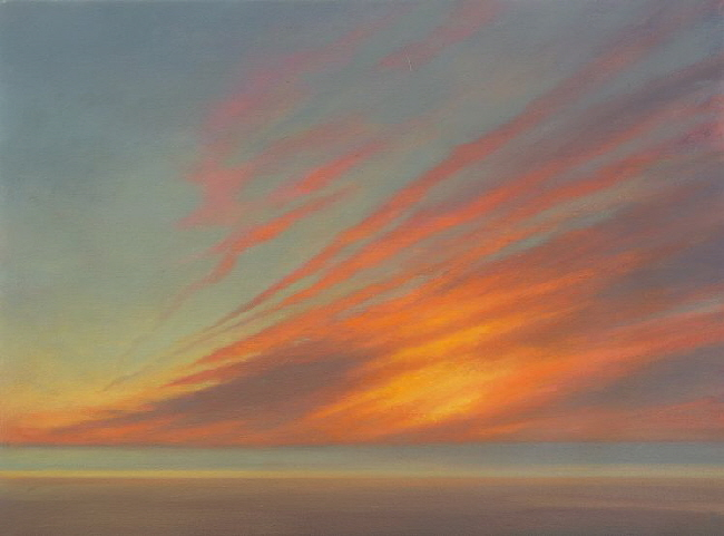Oil painting of Sunset - In the Sky This Morning