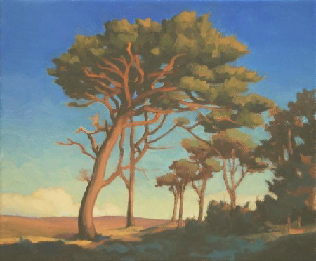 Painting of Pine Trees - outdoor painting