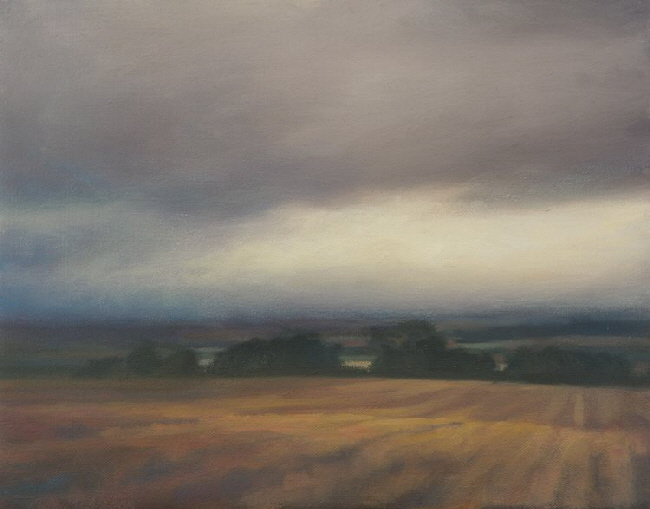 Sheriffmuir 2 - Oil painting of low clouds on the moor