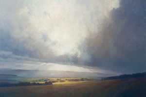 Oil painting - Sky at the Earn Valley