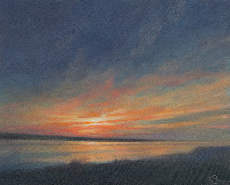 Outdoor painting - Sunrise from Tayport